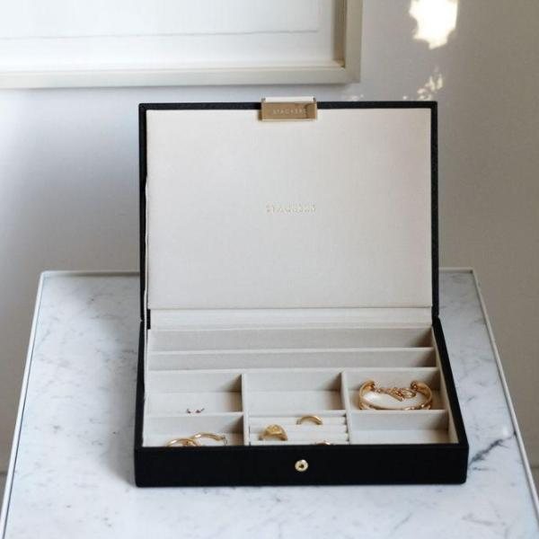 Jewellery Box with Lid Medium - Black