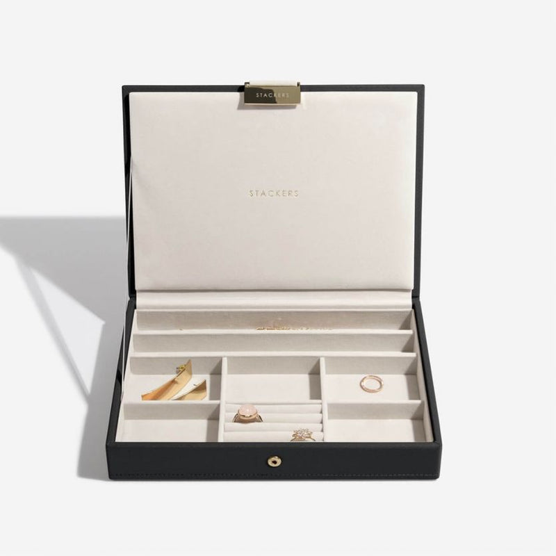 Stackers Taupe Classic Medium Jewellery Box Necklace Layer