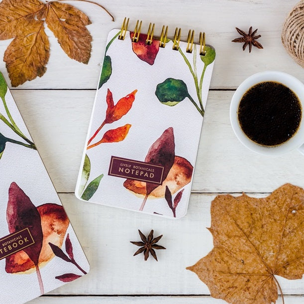 Botanical Notepads, Set of 2 - Fall