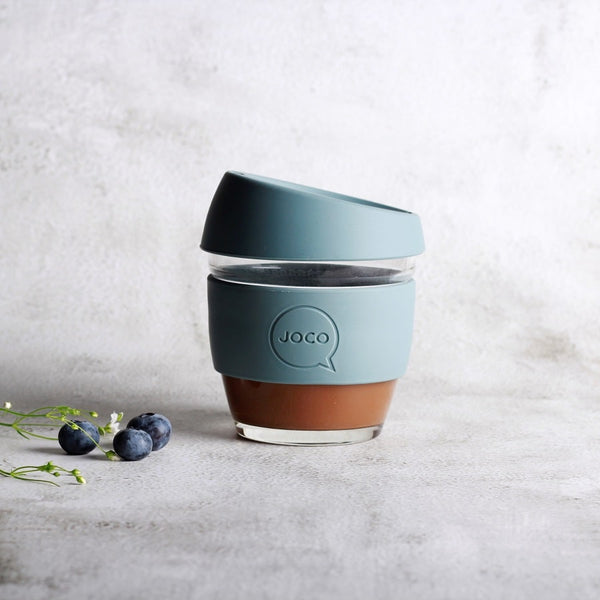 Reusable Glass Cup Small - Bluestone