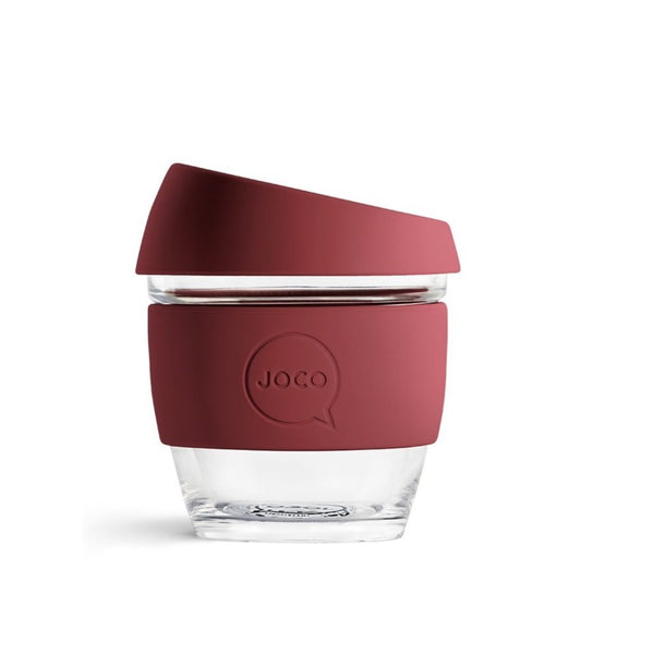 Reusable Glass Cup Small - Ruby Wine