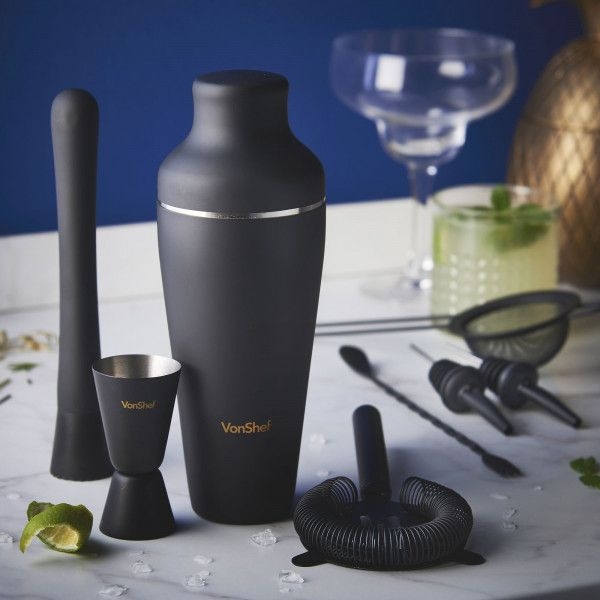 Parisian Cocktail Set - Matte Black