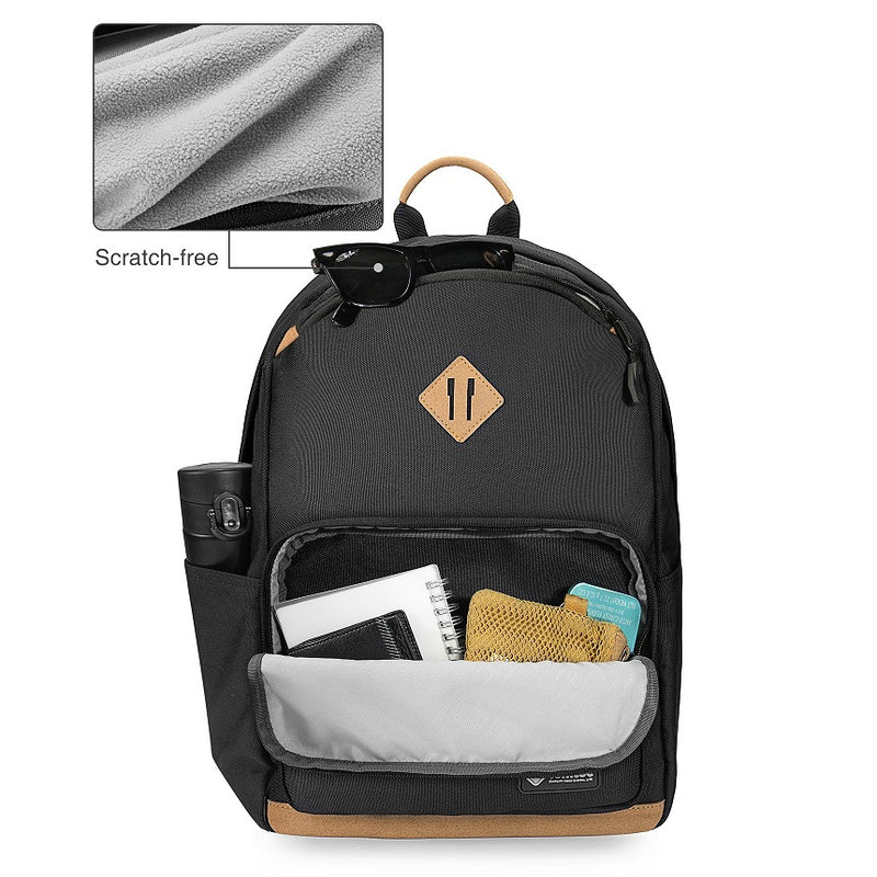 Casual Travel Backpack - Black