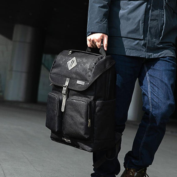 Military Travel Backpack - Vintage Black
