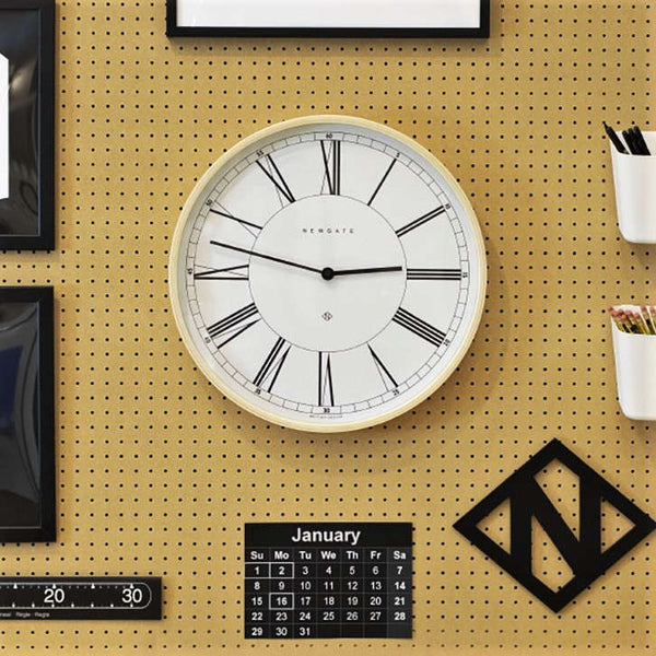 Mr Architect Wall Clock - White with Light Plywood