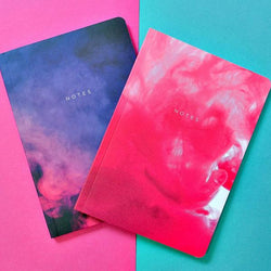 Abstract Print Set of 2 Notebooks - Modern Quests