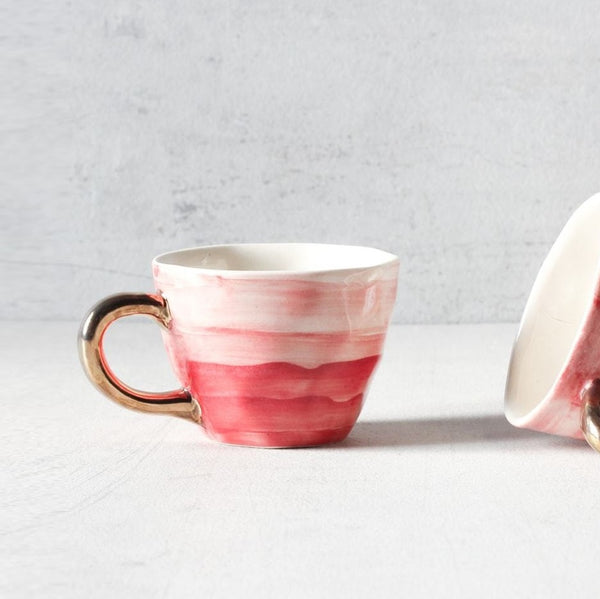 Adelina Red Gradient Handmade Ceramic Cup