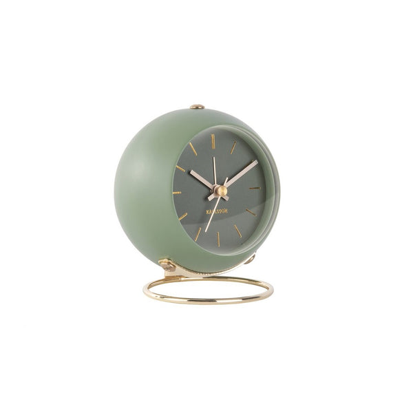 Globe Alarm Clock - Green Gold