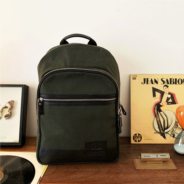 Alps Canvas Backpack - Olive Green