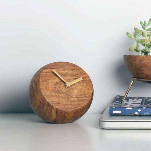 Wooden Ball Desk Clock