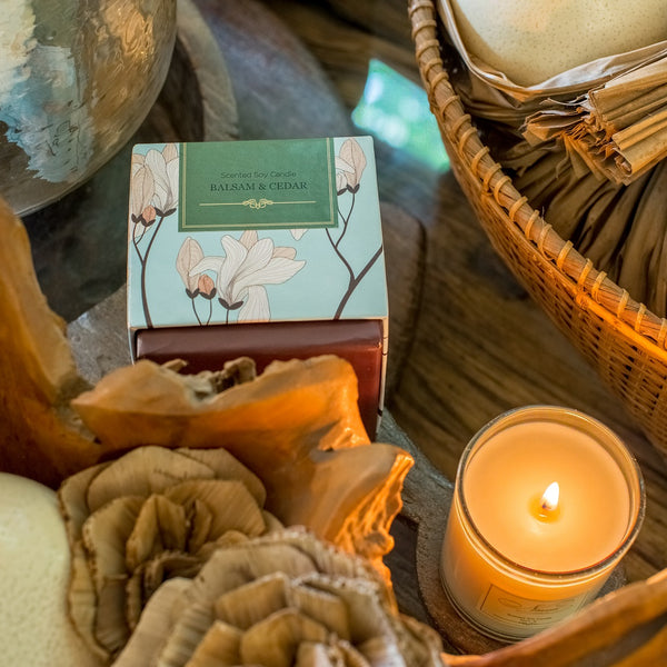 Balsam & Cedar Scented Candle