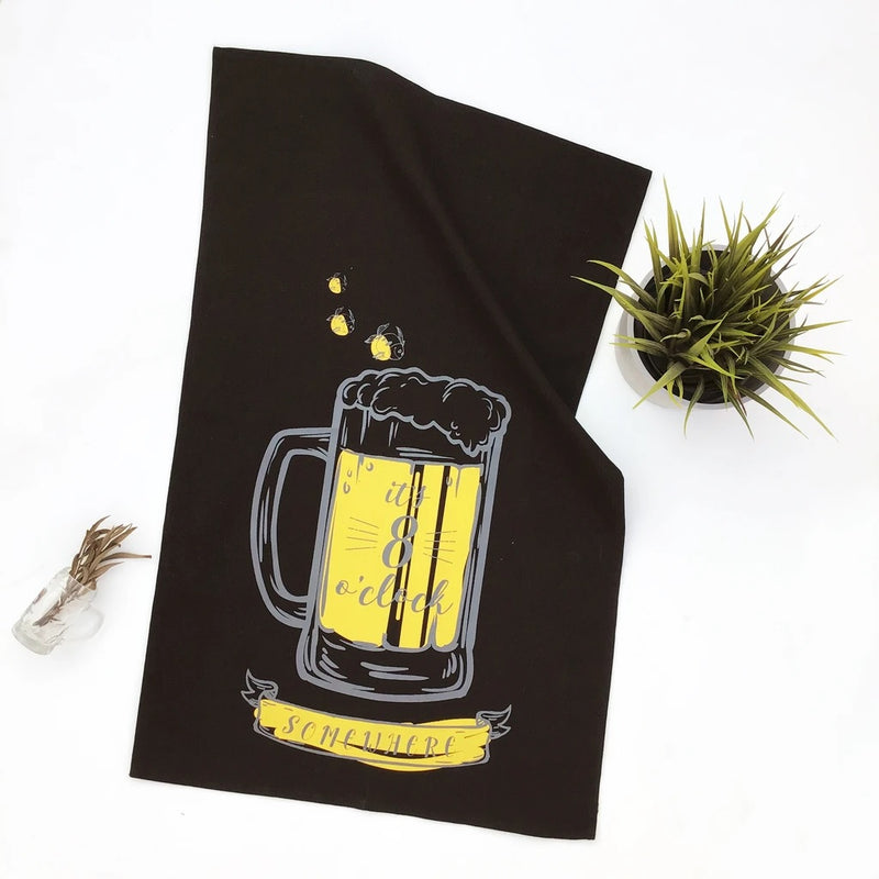Bar Towels, Set of 3 - Black