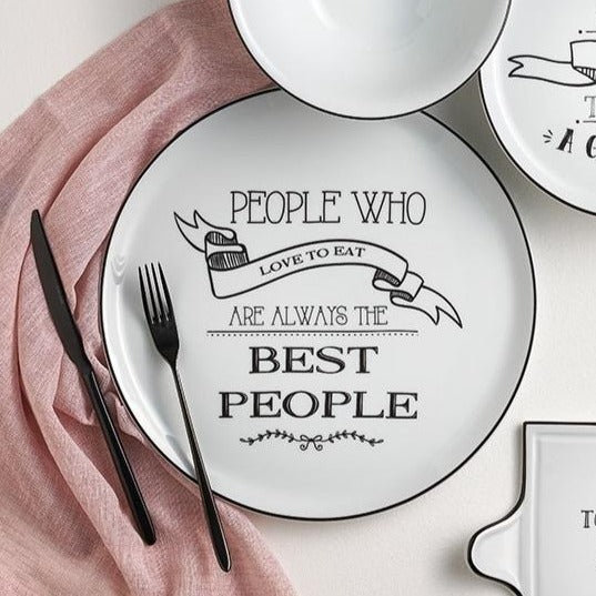 Be Happy Dinner Plate - Best People