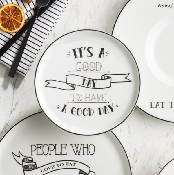 Be Happy Quarter Plate - Good Day