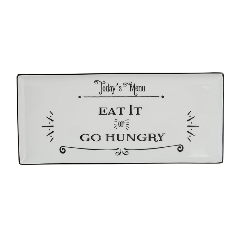 Be Happy Rectangular Plate - Eat It