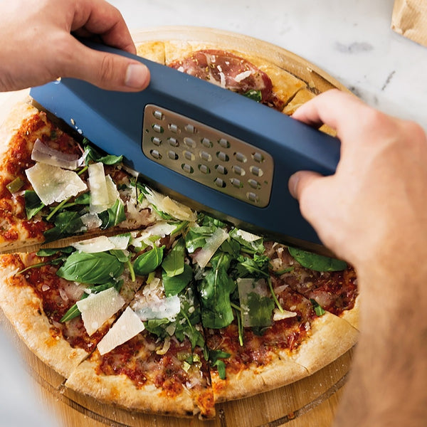 Pizza Slicer and Grater - Blue