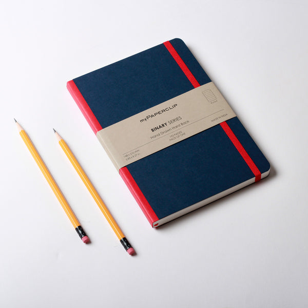 Hardcover Notebook, Binary Series - Blue