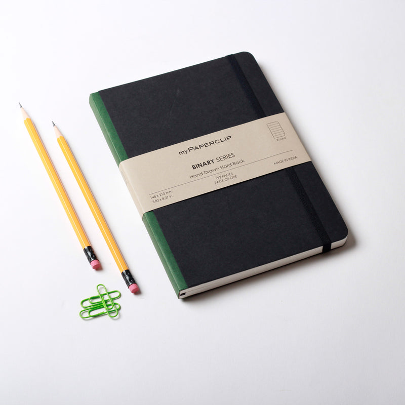 Hardcover Notebook, Binary Series - Green
