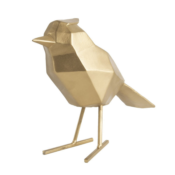 Bird Faceted Sculpture Large - Gold