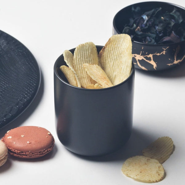 Essential Tall Snack Bowl - Black