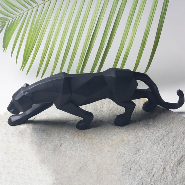 Black Panther Faceted Sculpture