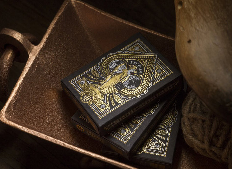 Tycoon Black Playing Cards