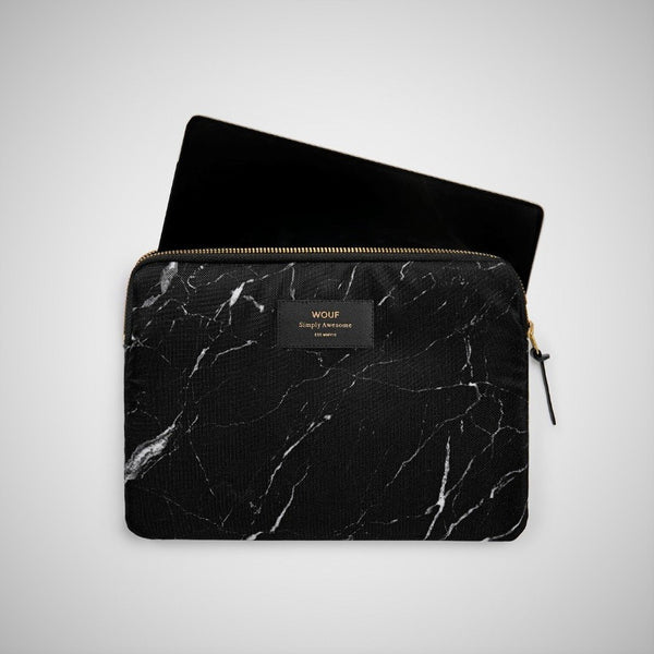 Black Marble Tablet Sleeve