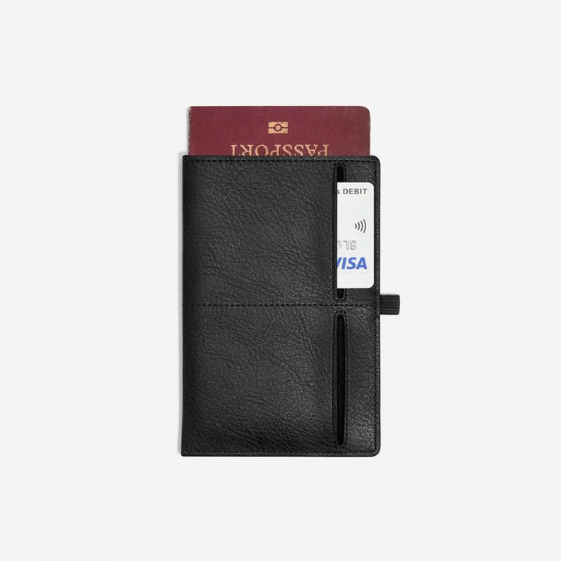 Travel Passport Sleeve - Black