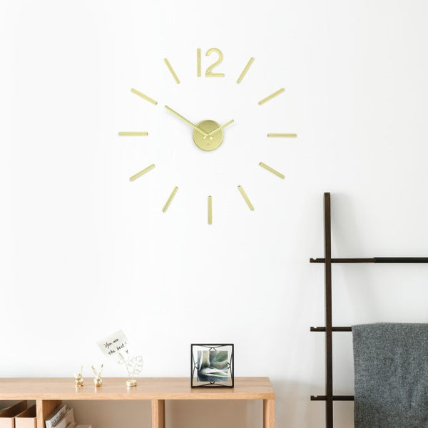Blink Wall Clock - Brass