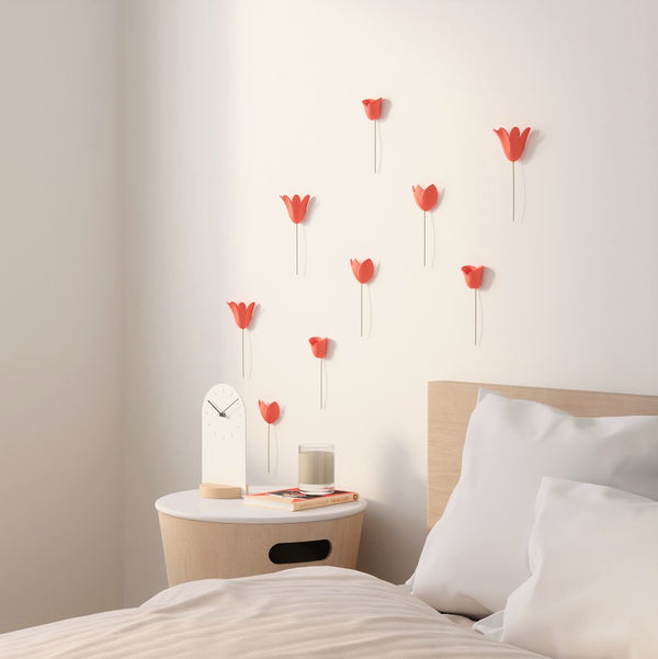 Bloomer Wall Decor - Coral