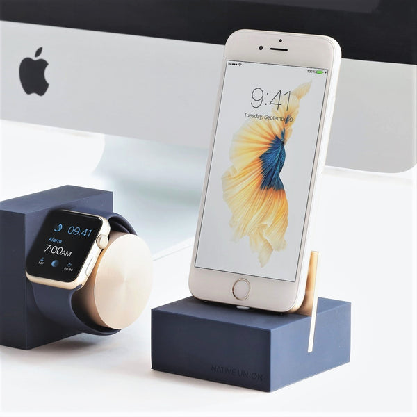 iPhone Dock + Cable - Midnight Blue/Gold