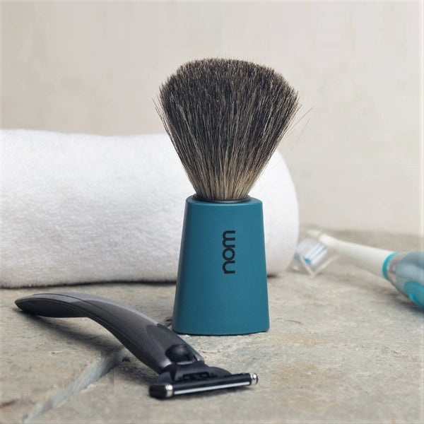 Carl Badger Shaving Brush - Petrol Blue