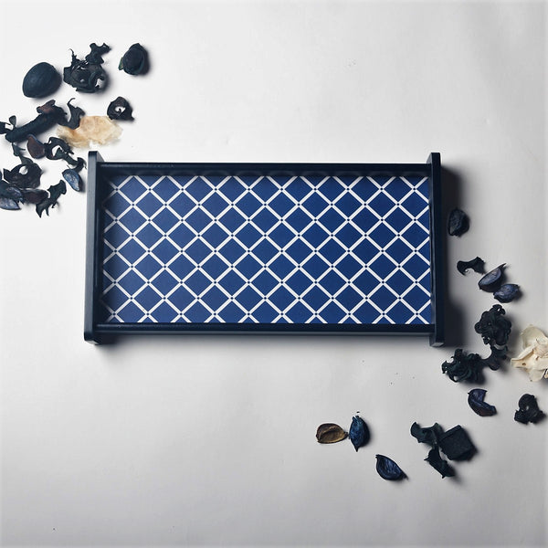 Deep Blue Serving Tray - Extra Small