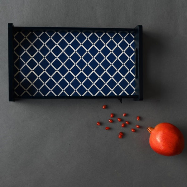 Deep Blue Serving Tray - XS