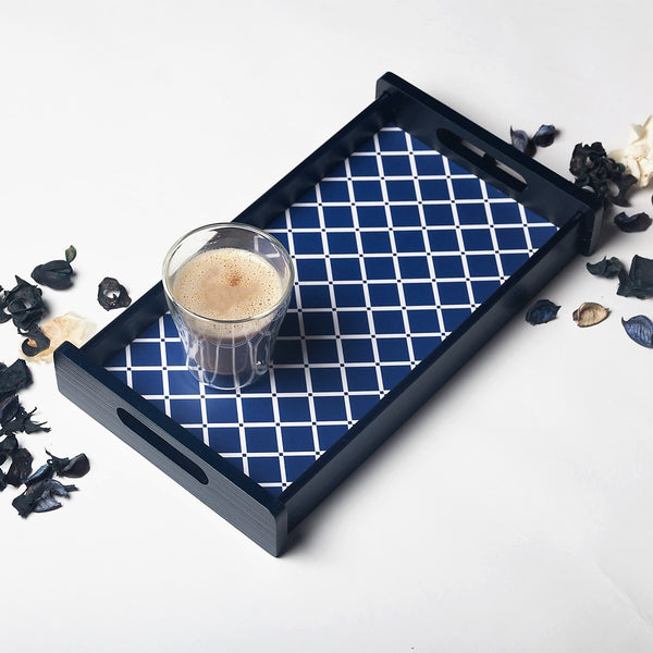 Deep Blue Serving Tray -  Small