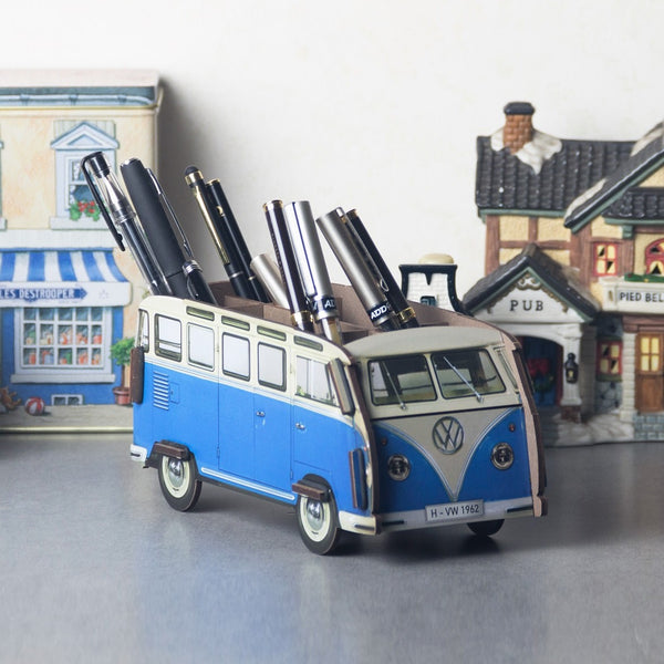 Pen Holder - Blue VW Van