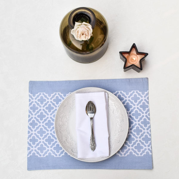 Eileen Blue Placemats with Napkins, Set of 2