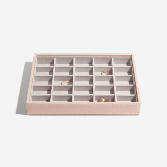 Trinkets Box with Glass Lid - Blush Pink