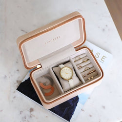 Travel Watch & Jewellery Pouch - Blush Pink