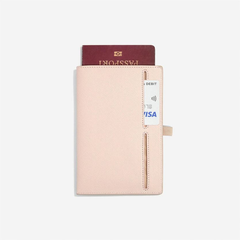 Travel Passport Sleeve - Blush Pink