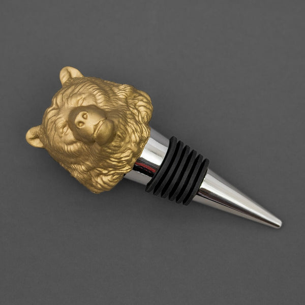 Bottle Stopper, Bear - Gold