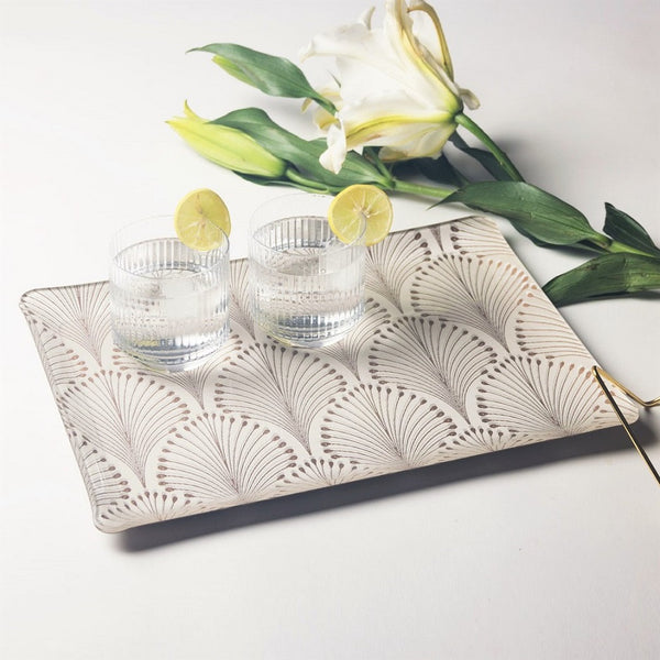 Patterned Acrylic Tray - Boudoir Cream