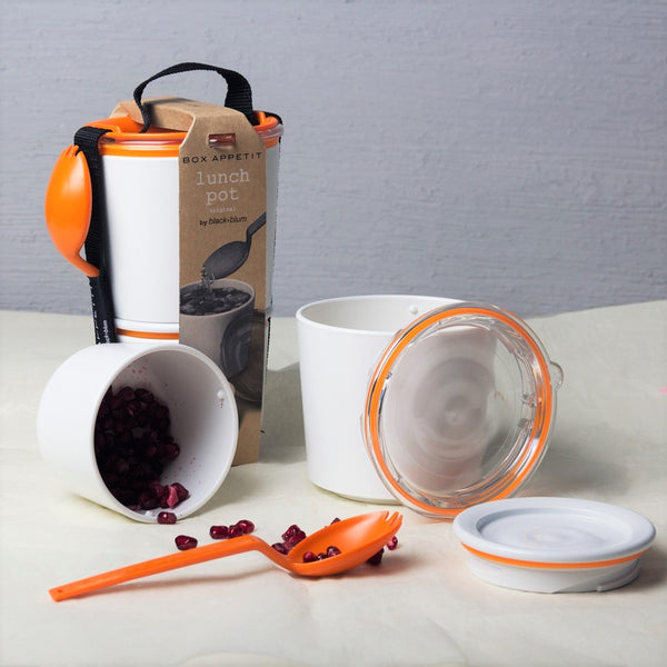 Sling Lunch Box - White Orange