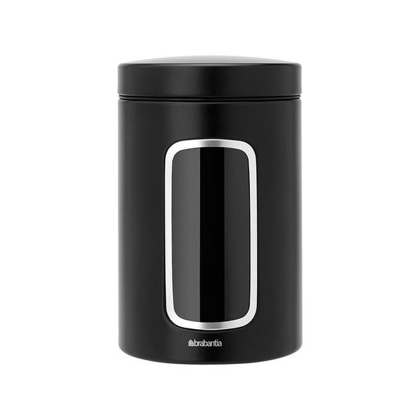 Window Canister - Matte Black