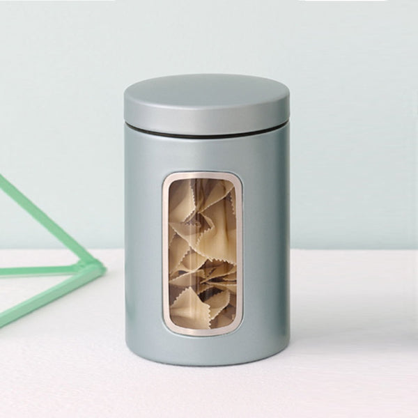 Window Canister - Metallic Mint