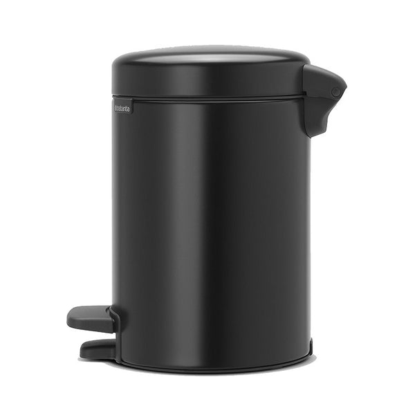 Newicon Pedal Wastebin, Small - Matte Black