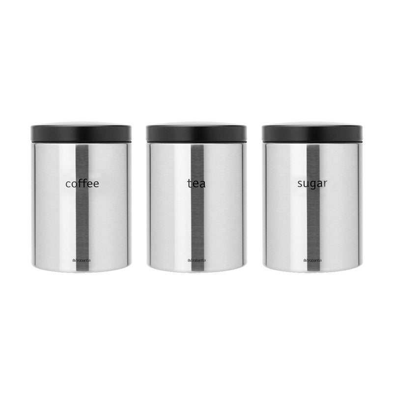 Tea Coffee Sugar Canisters, Set of 3
