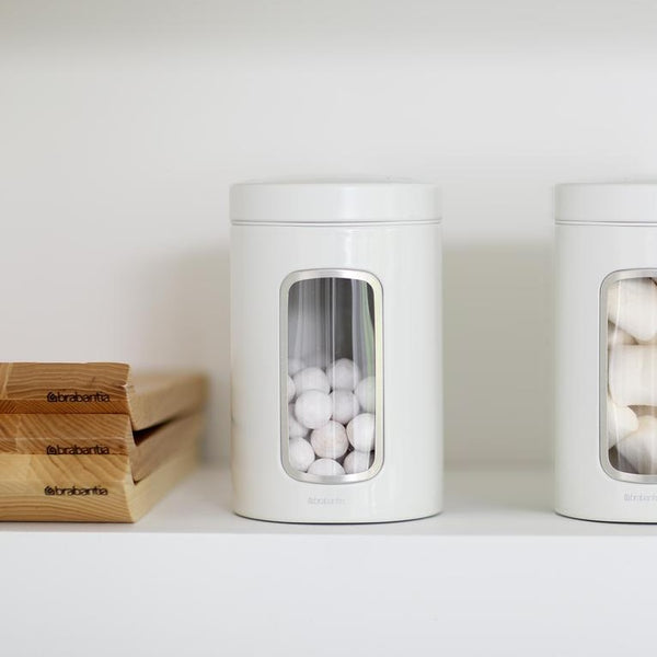 Window Canister - White