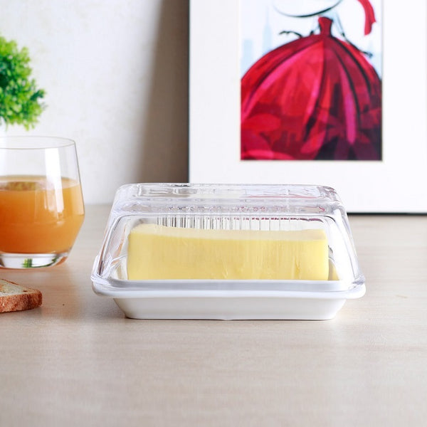 Bakers Butter Dish with Glass Lid