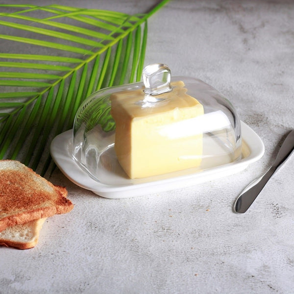 Daily Butter Dish with Glass Lid